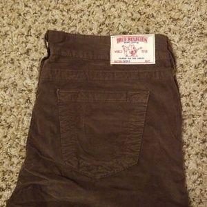 True Religion Corduroy Flare Pants